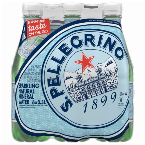 S. Pellegrino Sparkling Natural Mineral Water Perspective: back