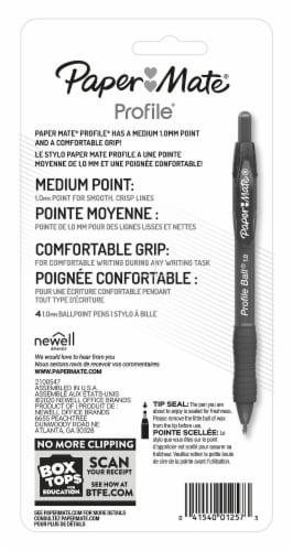 Paper Mate® Profile Ballpoint Pen - Black Perspective: back