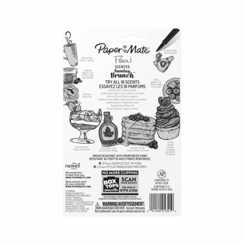 Paper Mate® Flair Sunday Brunch Scented Pens - Assorted Perspective: back