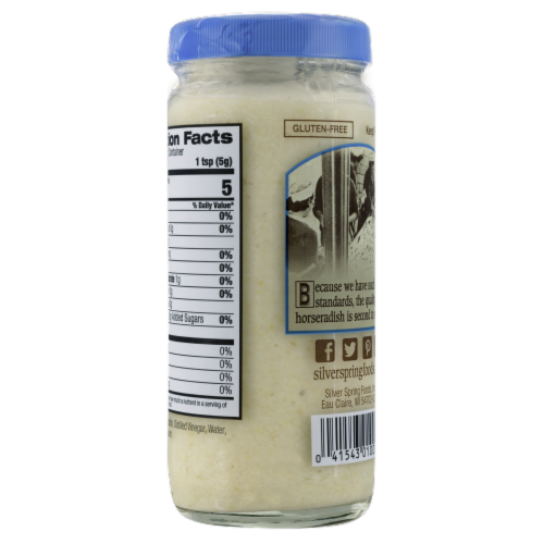 Silver Spring® Fine Cut Cream Style Horseradish Perspective: back