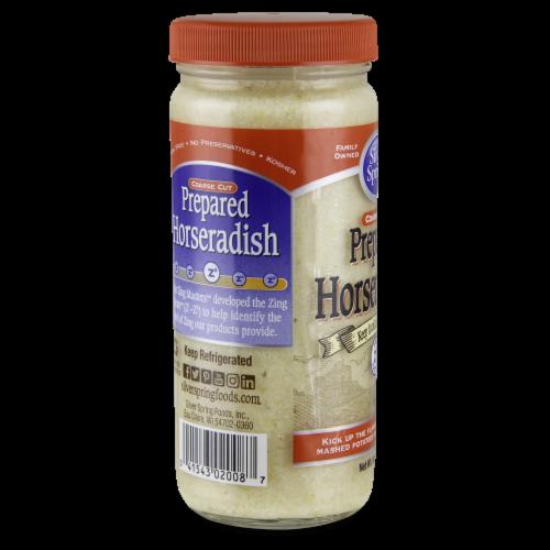 Silver Spring® Coarse Cut Prepared Horseradish Perspective: back