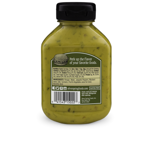 Silver Spring Spicy Jalapeno Mustard Perspective: back