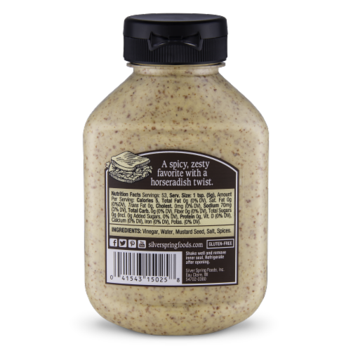 Silver Spring Spicy Brown Deli-Style Mustard Perspective: back