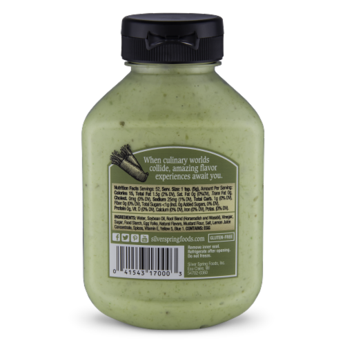 Silver Spring Hot Wasabi Sauce Perspective: back