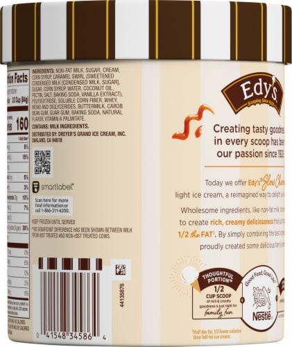 Edy's® Slow Churned Caramel Delight Light Ice Cream Perspective: back
