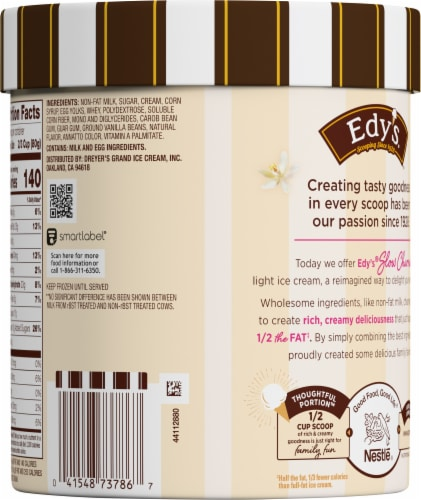 Dreyer's™ Slow Churned French Vanilla Light Ice Cream Perspective: back