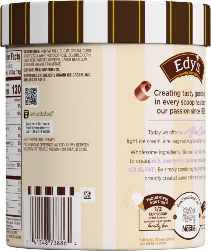 Dreyer's™ Slow Churned Chocolate Light Ice Cream Perspective: back