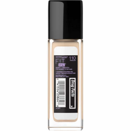 Maybelline Fit Me Dewy + Smooth Porcelain Foundation Perspective: back