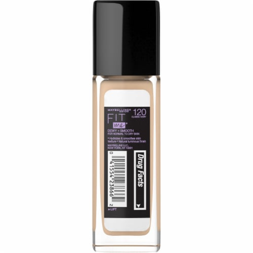 Maybelline Fit Me Dewy + Smooth Classic Ivory Foundation Perspective: back