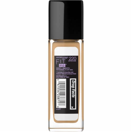 Maybelline Fit Me Dewy + Smooth Natural Beige Foundation Perspective: back