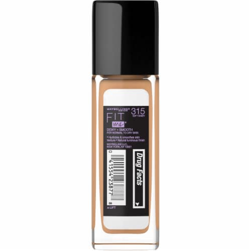 Maybelline Fit Me Dewy + Smooth Soft Honey Foundation Perspective: back