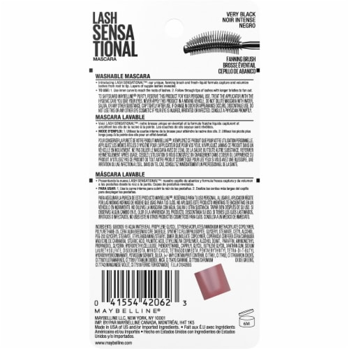 Maybelline Lash Sensational Very Black Washable Mascara Perspective: back