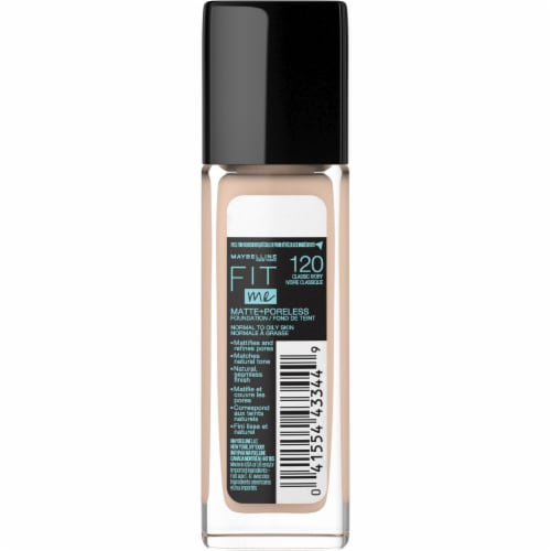 Maybelline Fit Me 120 Classic Ivory Matte + Poreless Liquid Foundation Perspective: back