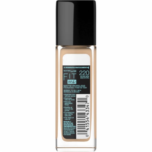 Maybelline Fit Me 220 Natural Beige Matte + Poreless Liquid Foundation Perspective: back