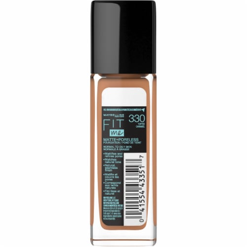 Maybelline Fit Me 330 Toffee Matte + Poreless Liquid Foundation Perspective: back