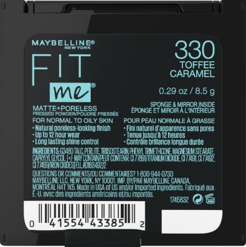 Maybelline Fit Me Matte + Poreless 330 Toffee Caramel Pressed Face Powder Perspective: back