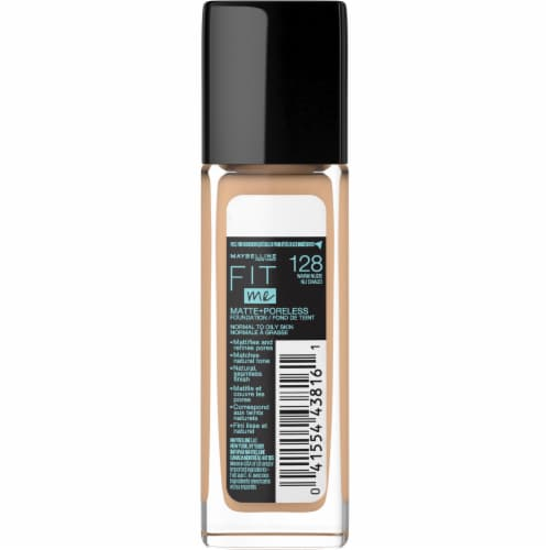 Maybelline Fit Me! Matte + Poreless 128 Warm Nude Liquid Foundation Perspective: back