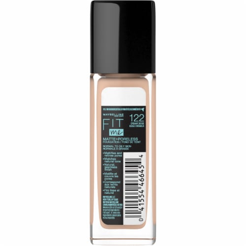 Maybelline Fit Me! Matte + Poreless 122 Creamy Beige Liquid Foundation Perspective: back
