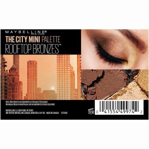 Maybelline The City Mini Eyeshadow Palette - Rooftop Bronzes Perspective: back