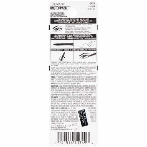 Maybelline Unstoppable 701 Onyx Eyeliner Perspective: back