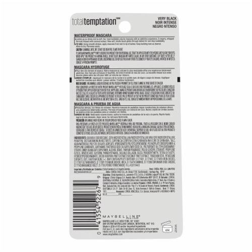Maybelline Total Temptation 604 Very Black Waterproof Mascara Perspective: back
