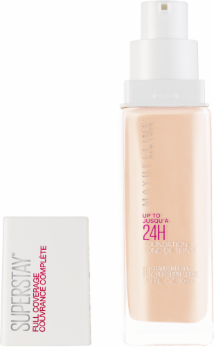 Maybelline Superstay 24-Hour Full Coverage 102 Fair Porcelain Liquid Foundation Perspective: back