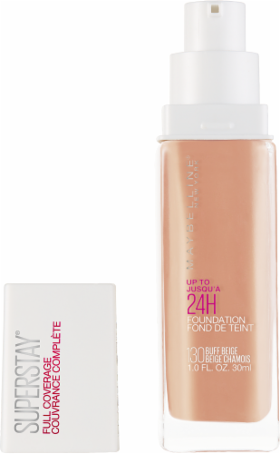 Maybelline Superstay 24-Hour Full Coverage 130 Buff Beige Liquid Foundation Perspective: back