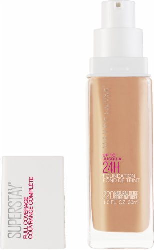 Maybelline Superstay 24-Hour Full Coverage 220 Natural Beige Liquid Foundation Perspective: back
