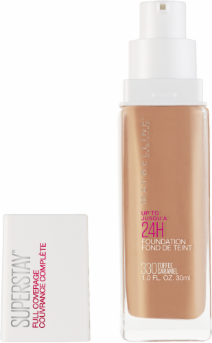 Maybelline Superstay 330 Toffee Caramel Full Coverage Liquid Foundation Perspective: back
