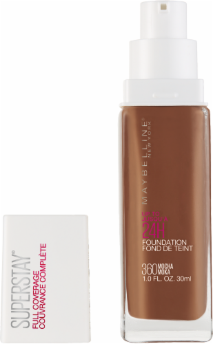 Maybelline Superstay Mocha Full Coverage Liquid Foundation Perspective: back