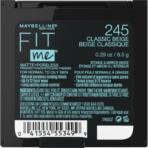 Maybelline Fit Me Matte + Poreless 245 Classic Beige Pressed Face Powder Perspective: back