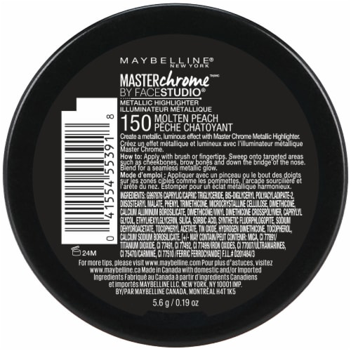Maybelline FaceStudio Master Chrome 150 Molten Peach Metallic Highlighter Perspective: back