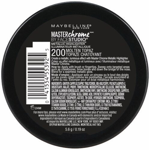 Maybelline FaceStudio Master Chrome 200 Molten Topaz Metallic Highlighter Perspective: back