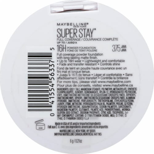 Maybelline Super Stay Full Coverage 375 Java Powder Foundation Perspective: back