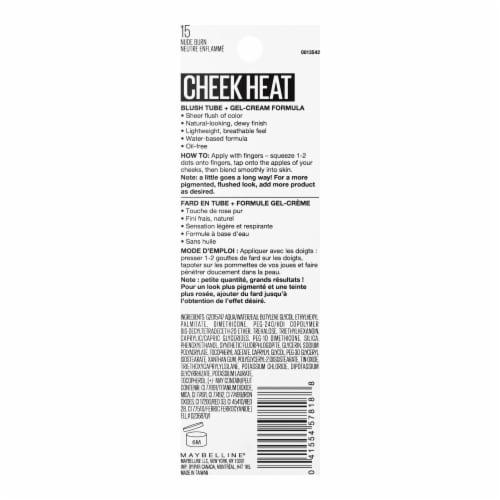 Maybelline Cheek Heat 15 Nude Burn Gel-Cream Blush Perspective: back