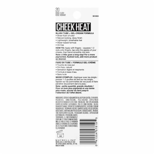 Maybelline Cheek Heat 20 Rose Flush Gel-Cream Blush Perspective: back