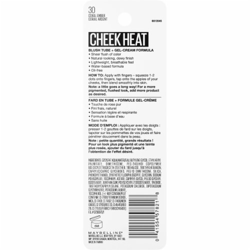 Maybelline Cheek Heat 30 Coral Ember Gel-Cream Blush Perspective: back
