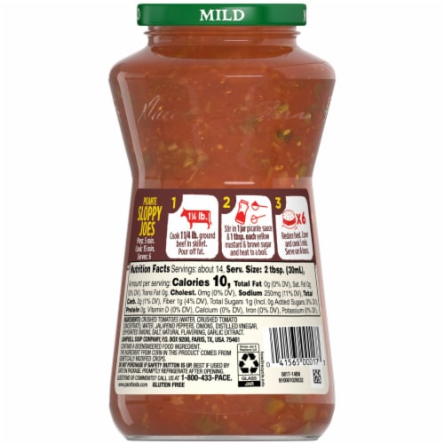 Pace Mild Picante Sauce Perspective: back