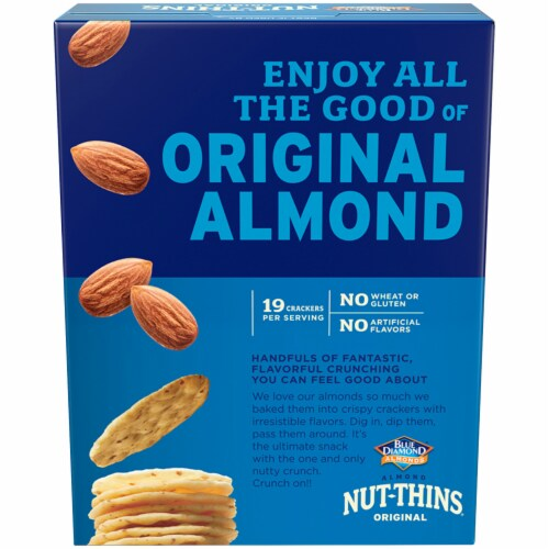 Blue Diamond Almond Nut-Thins Crackers Perspective: back