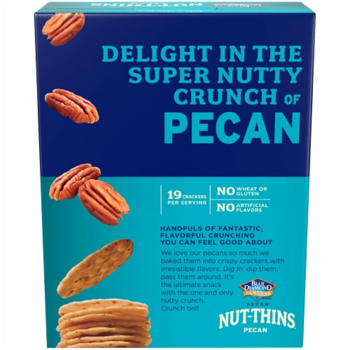 Blue Diamond Pecan Nut-Thins Crackers Perspective: back