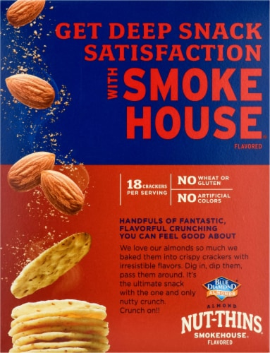 Blue Diamond Smokehouse Nut-Thins Cracker Snacks Perspective: back