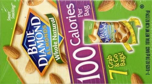 Blue Diamond Whole Natural Almonds 100 Calorie Bags Perspective: back