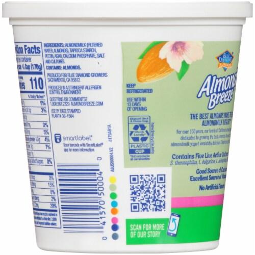 Blue Diamond Almond Breeze Original Almondmilk Yogurt Alternative Perspective: back