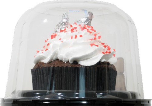 Fred Meyer Bakery Colossal Colorful Chocolate Cupcake Perspective: back