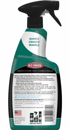Weiman® Granite Cleaner and Polish Perspective: back