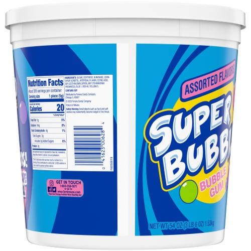 Super Bubble Apple Grape & Original Bubble Gum 300 Count Perspective: back