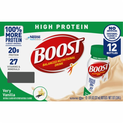 Boost® High Protein Very Vanilla Nutritional Drink Perspective: back