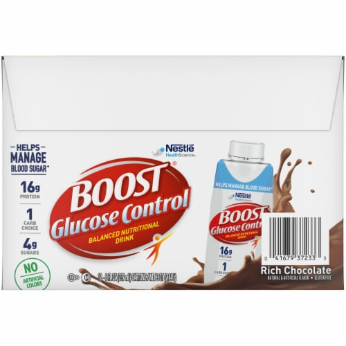 Boost Glucose Control Rich Chocolate Balanced Nutritional Drink Perspective: back
