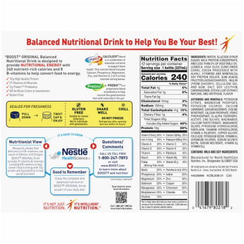 Boost® Original Rich Chocolate Balanced Nutritional Drink Perspective: back