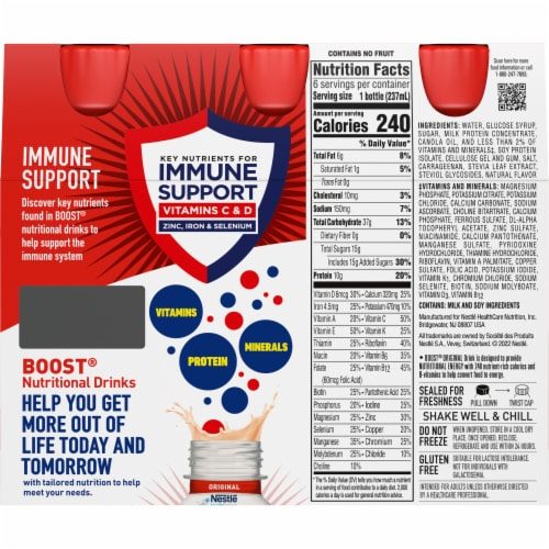 Boost® Original Peaches & Creme Complete Nutritional Drinks Perspective: back